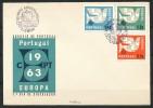 PORTUGAL Mi.Nr. 448-450 EUROPA CEPT- 1963- FDC - Europa-CEPT