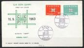 TÜRKEI Mi.Nr. 1888-1889 EUROPA CEPT- 1963- FDC - Europa-CEPT