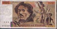 FRANCE - 100 Fr DELACROIX 1991 - 1962-1997 ''Francs''