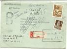 HUNGARY 1972 REG COVER BRIT EMBASSY TO PARIS, RETURNED - Hongarije