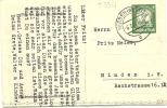 GERMANY POST  CARD PRIVAT GANZSACHEN?  MINDEN (WEST) 6-6-1935 - Brieven En Documenten