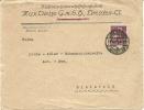 GERMANY FIRM COVER Nahmaschinenschisschenfab Rik Max Dietze Dresden 1921 Stamp Michel 161 - Brieven En Documenten