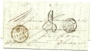 GB 27-1-1853 Taxed Entine To Paris 28-1-853 Via Calais 28-1-1853 France - Groot-Brittannië