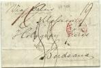GB 1837 Entire Via Calais To Bordeau France - Groot-Brittannië