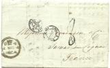 GB 5-3-1854 Taxes Entire To Bordeau Via Paris - Groot-Brittannië