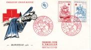 Enveloppe 1er Jour Emission Croix-Rouge Marseille 1960  4.12.1960 - FDC