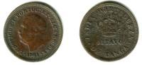 PORTUGUESE INDIA ( GOA ), Luiz I - 1/8 Tanga 1881 - KM#307 Y#7 VF- - India