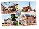 CPSM - PIONNAT - 23  - Hotel Restaurant BRUNAUD - Eglise - Chateau - Café - 1962 - Autres Communes