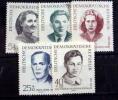 GERMAN DEMOCRATIC REPUBLIC # B84-B88.  IN MEMORY OF FOREIGN VICTIMS OF THE NAZIS. MINT (*) - [6] Democratic Republic