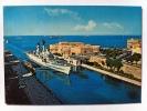TARANTO--NAVE MILITARE V.VENETO AL PASSAGGIO DEL CANALE NAVIGABILE CON PONTE GIREVOLE APERTO--FG--V - Taranto