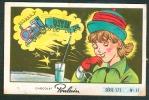 """Chromo, Chocolat POULAIN : Série 172,  N° 11, Chanson """"A La Gare Saint-Lazare"""", Pierre Delanoé, Trains... - Poulain"""