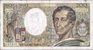 TRES TRES BEAU BILLET DE DEUX CENT FRANCS DATE 1992 - 200 F 1981-1994 ''Montesquieu''