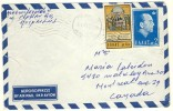 1964 Greece  Airmail Cover Sent To Canada With Good Stamps, King Constantin Etc. - Greece