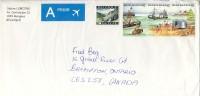 1988 Belgium  Priority  Airmail Cover Sent To Canada With Beautiful  Stamps, Beach Scenes Strip All Unused - Belgium