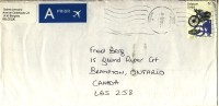 2003 Belgium  Priority  Airmail Cover Sent To Canada With A Beautiful  Stamp, Motorcycle - Belgium