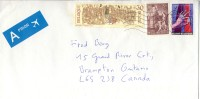 2003 Belgium  Priority  Airmail Cover Sent To Canada With Beautiful  Stamps, Gathering Of Knights Etc. - Belgium