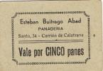 Vale De Panaderia CARRION DE CALATRAVA (ciudad Real) 5 Panes - Profesionales/De Sociedad