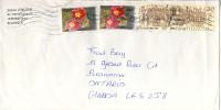 2003 Belgium  Airmail Cover Sent To Canada With Beautiful  Stamps, Flowers Etc. - Belgium
