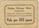 Vale De Panaderia CARRION DE CALATRAVA (ciudad Real) 2 Panes - Monedas/ De Necesidad