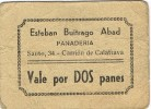 Vale De Panaderia CARRION DE CALATRAVA (ciudad Real) 2 Panes - Monetary/Of Necessity