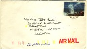 Cayman Island Cover With Ocean Blowhole Stamp - Lettres & Documents