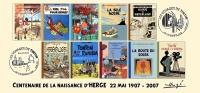 FRANCE 2007 N°24 Albums Fictifs + 2 Cachets Premier Jour FDC TINTIN KUIFJE TIM HERGE GUEBWILLER - Comics