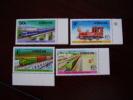 KENYA 1976 RAILWAY TRANSPORT Issue 4 Values To 3/-  MNH. - Kenya (1963-...)