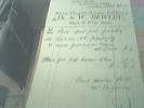 England Carlisle Invoice Dr Bentley 1931 - Regno Unito