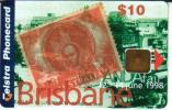 AUSTRALIA $10 PHONECARD CLUB ISSUE MINT VINTAGE STAMP BRISBANE CHIP CODE: 98/68P 1500 ONLY !!!!!! VERY SCARCE !!! - Australia