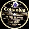 Disque 78 Trs  Columbia DF 948 - LES VIGNES DU SEIGNEUR - Scène D´amour - MM. Victor BOUCHER Et S. DEGUYSE - 78 Rpm - Schellackplatten