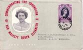 SIERRA LEONE-FREETOWN 2-7-1953 - COMMEMORATION DU COURONNEMENT DE LA REINE. - Sierra Leone (1961-...)