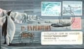 Enveloppe Expédition Antarctique Belge Surchargée En Rouge 4ème Expédition 1960-62 - Poolfilatelie