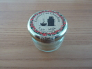 """Pot De Confiture Au Chaudron Miniature En Verre """"Lait"""" 4x3,5cm (vide) - Miniatures Décoratives"""