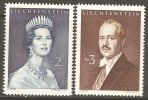 Liechtenstein 1960 Mi# 402-403 ** MNH - Princess Gina / Prince Franz Joseph II - Liechtenstein