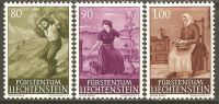 Liechtenstein 1961 Mi# 411-413 ** MNH - Landscapes And Rural Themes (IV) - Liechtenstein