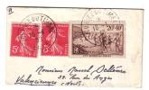 Lille Journée Du Timbre Semeuse 5c Oeuvres Sociales PTT Sports Loisirs 1938 Valenciennes Nord - Lettres & Documents