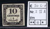 France Taxe Maury 2 IIA,  Obl., 1859, 10 C Noir, Cote € 50