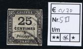 France Taxe Maury  5 II,  Obl., 1859, 25  C Noir, Cote € 70