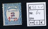 France Taxe Maury 64,  Neuf , 1,20 A 2 Fc , Cote € 52, - Segnatasse
