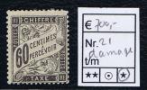 France Taxe Maury 21 ,  Neuf , Damaged