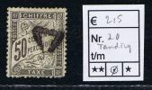 France Taxe Maury 20 ,  Obl. , Cote € 215, Perforation Irrégulière