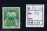 France Taxe Maury 89 Neuf**  , Cote € 85