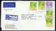 1990  Registered    Air Mail Letter To USA   $2.00 (dated 1989 X 4, $0.80 (dated 1989) - Hong Kong (...-1997)