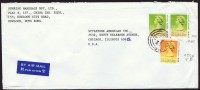 1990     Air Mail Letter To USA   $2.00 (dated 1989) X 2,   $0.50 - Hong Kong (...-1997)