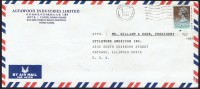 1990     Air Mail Letter To USA   $1.80 (dated 1989) - Hong Kong (...-1997)