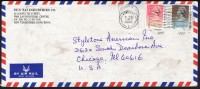 1990     Air Mail Letter To USA   $1.80, $0.90  (both Dated 1989) - Hong Kong (...-1997)