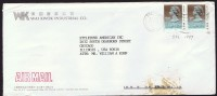 1990     Air Mail Letter To USA   $1.80 X 2  (both Dated 1989) - Hong Kong (...-1997)