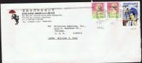 1990     Air Mail Letter To USA   $1.30 X 2, $1.80  Hong Kog People - Hong Kong (...-1997)