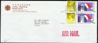 1990     Air Mail Letter To USA   $1.00 X 2 (dated 1990)  Christmas $1.80 X 2 - Hong Kong (...-1997)
