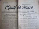 Évadé De France, Aout 1946 (Union Des Évadés De France) 4 Pages - Journaux - Quotidiens